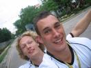 Tobi und ich auf dem Rad